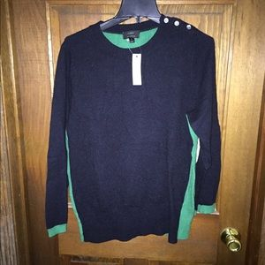 J crew color block sweater NWT